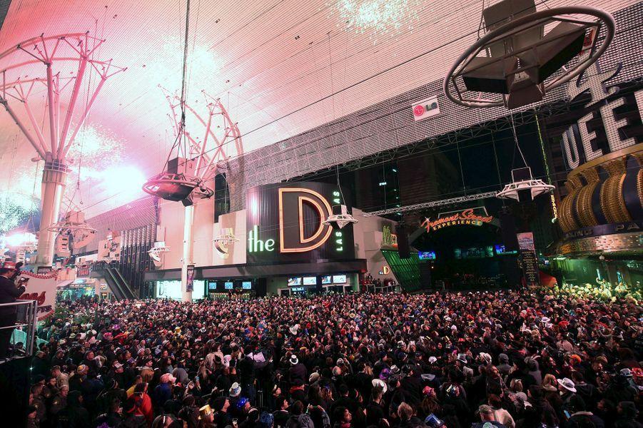 Célébrations de la nouvelle année 2016 à Las Vegas (Etats-Unis)