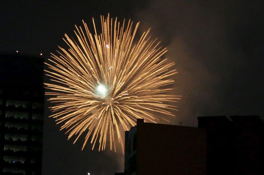 Célébrations de la nouvelle année 2016 à Mexico (Mexique)