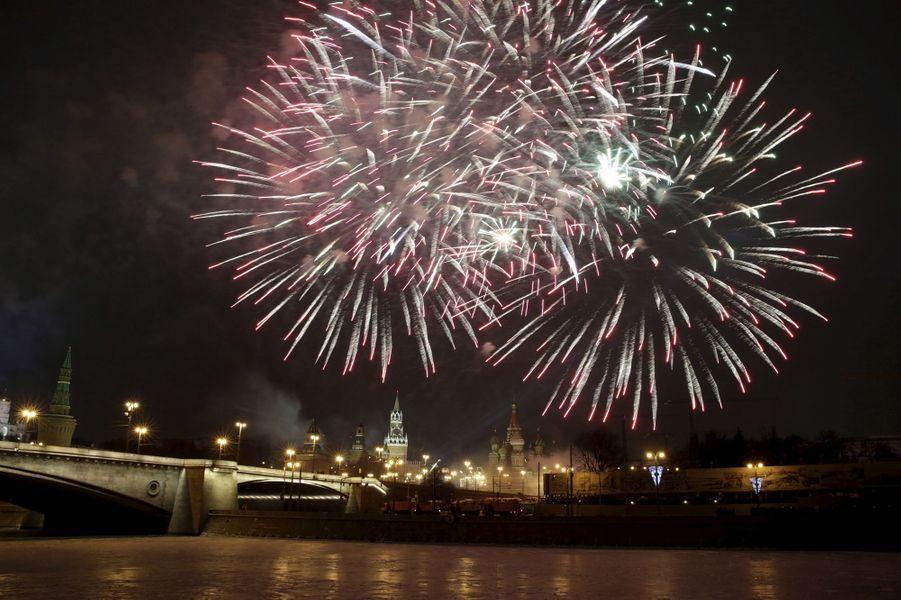 Célébrations de la nouvelle année 2016 à Moscou (Russie)