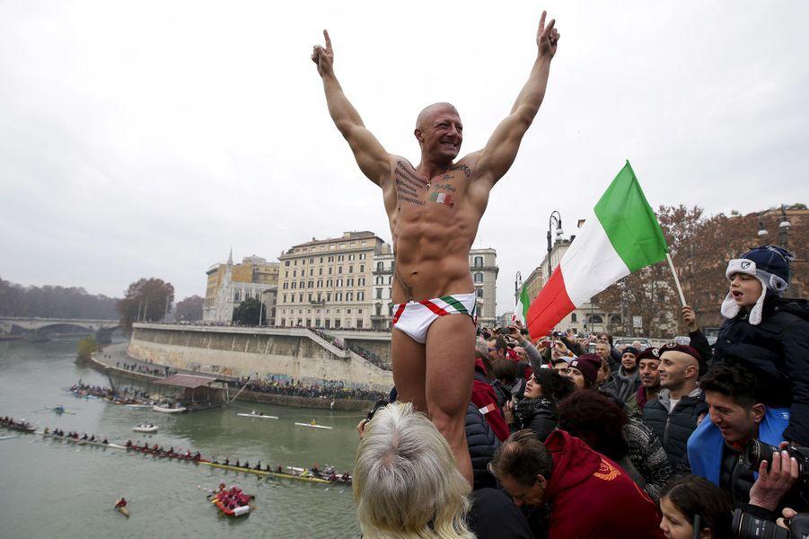Célébrations de la nouvelle année 2016 à Rome (Italie)
