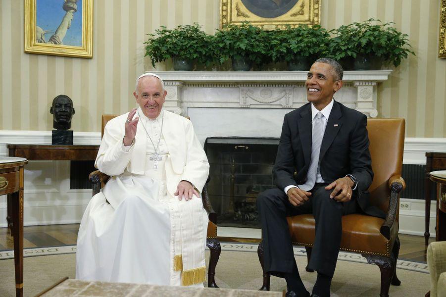 Le pape François et Barack Obama complices à la Maison Blanche