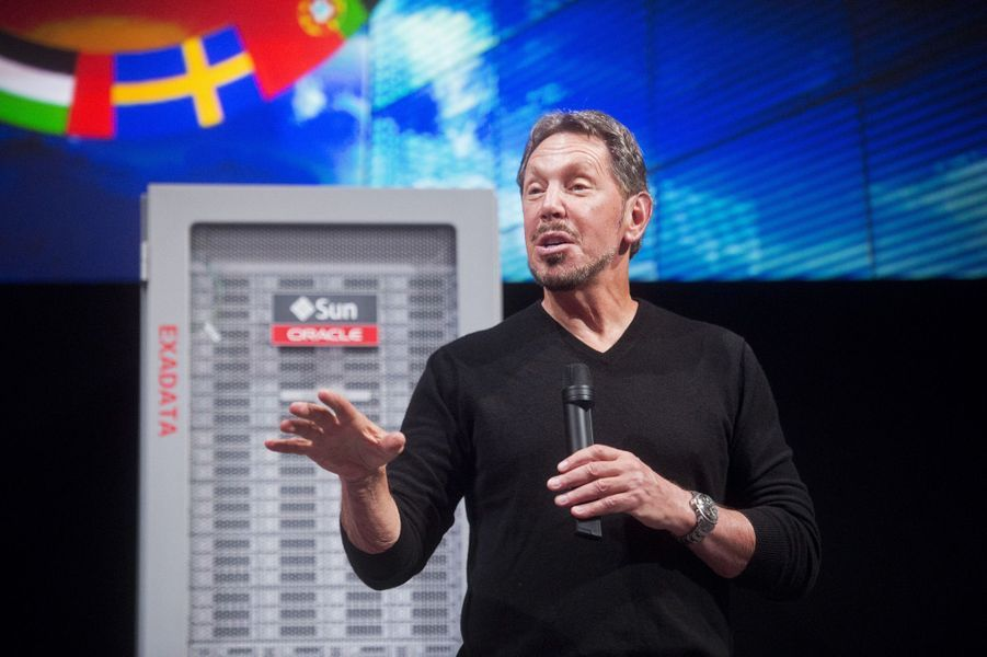 7ème: Larry Ellison (Oracle): 43,6 milliards de dollars