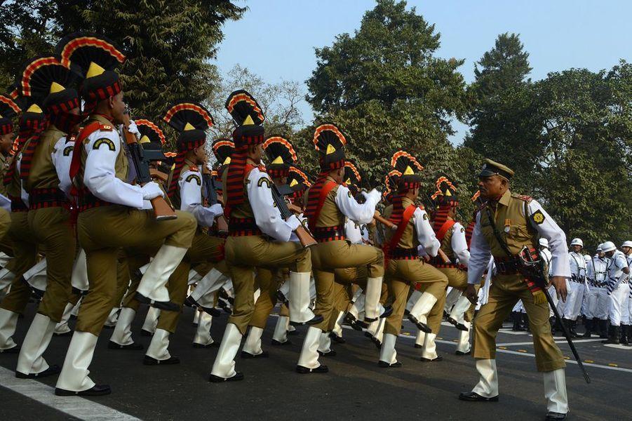 François Hollande arrive en Inde, le 24 janvier 2016