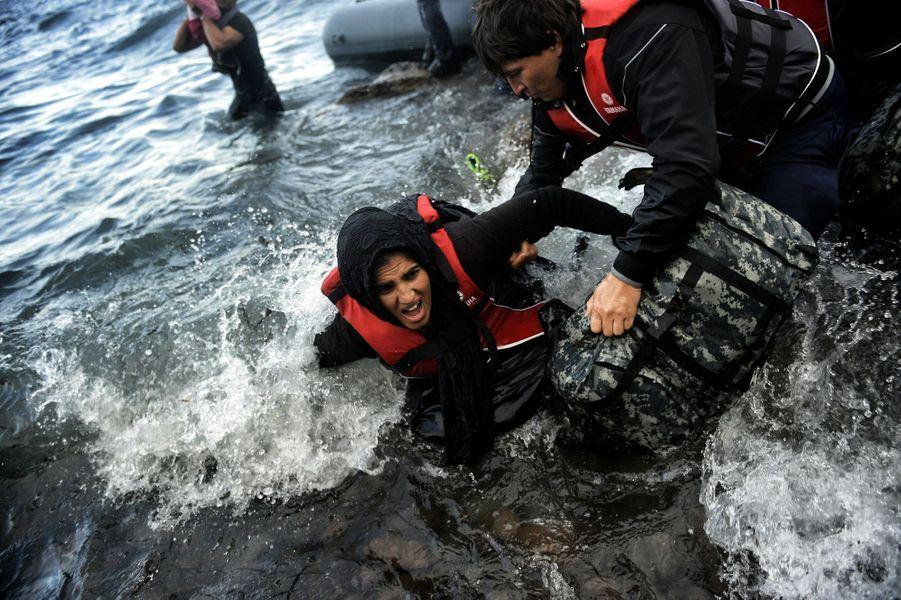 Les migrants s'échouent toujours à Lesbos