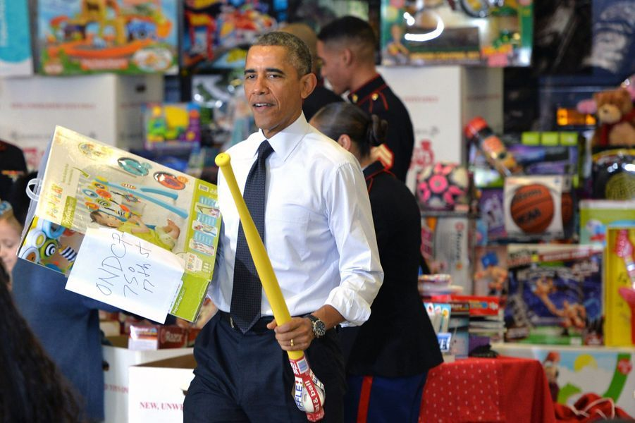 Les Obama en mode père et mère Noël