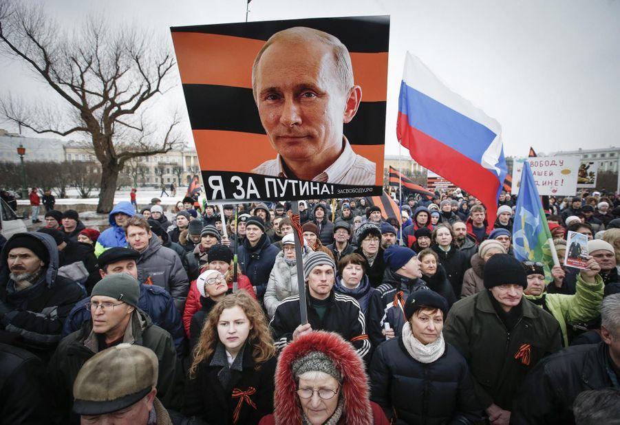 Manifestation pro-Poutine à Moscou
