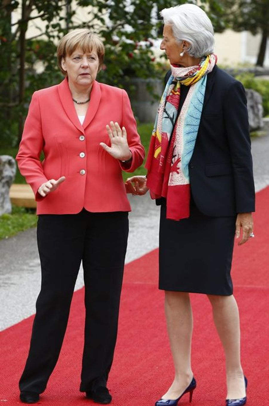 Angela Merkel et Christine Lagarde au sommet du G7 en Bavière