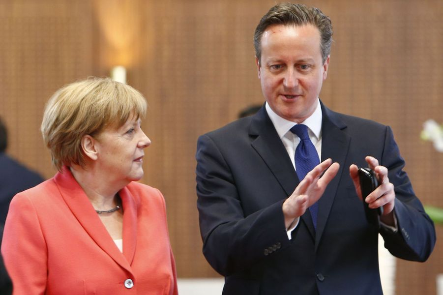 Angela Merkel et David Cameron au sommet du G7 en Bavière