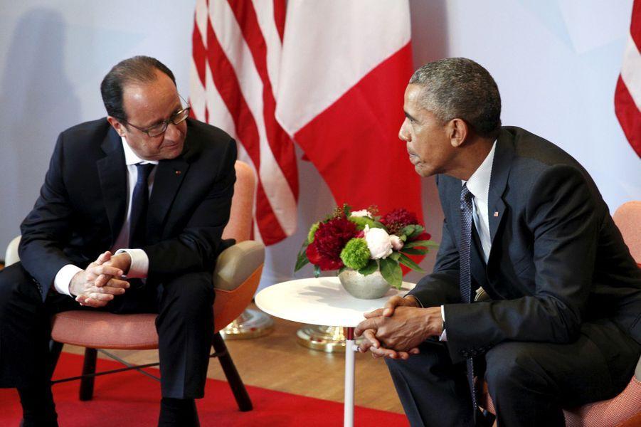 François Hollande et Barack Obama au sommet du G7 en Bavière