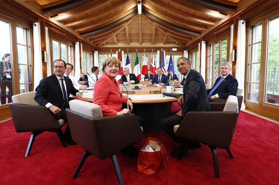 Les participants au sommet du G7 en Bavière