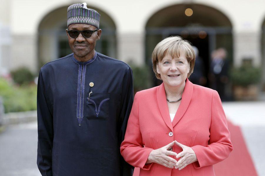 Muhammadu Buhari et Angela Merkel au sommet du G7 en Bavière