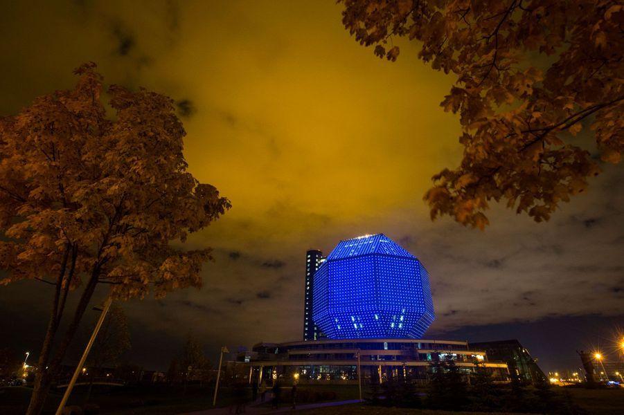 La bibliothèque nationale de Minsk en Biélorussie