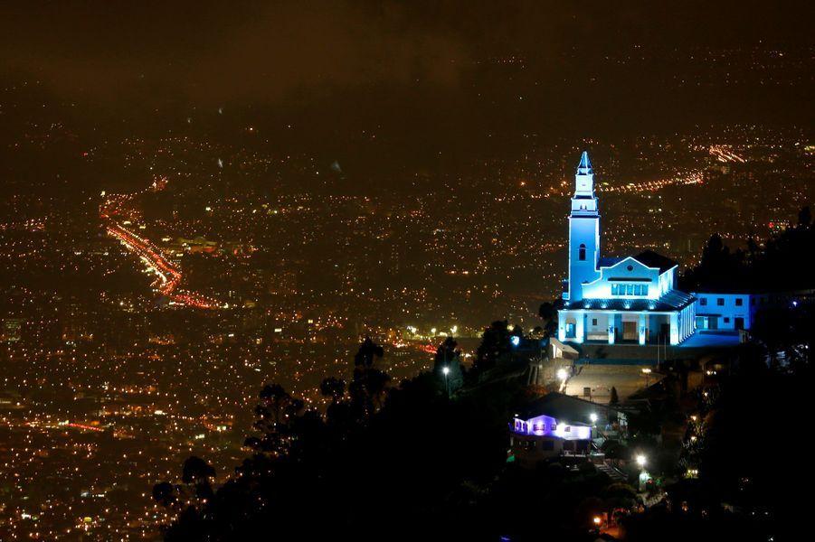 Le cerro de Monserrate à Bogota en Colombie