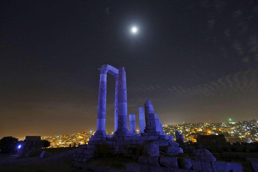 Le temple d'Hercule à Amman en Jordanie