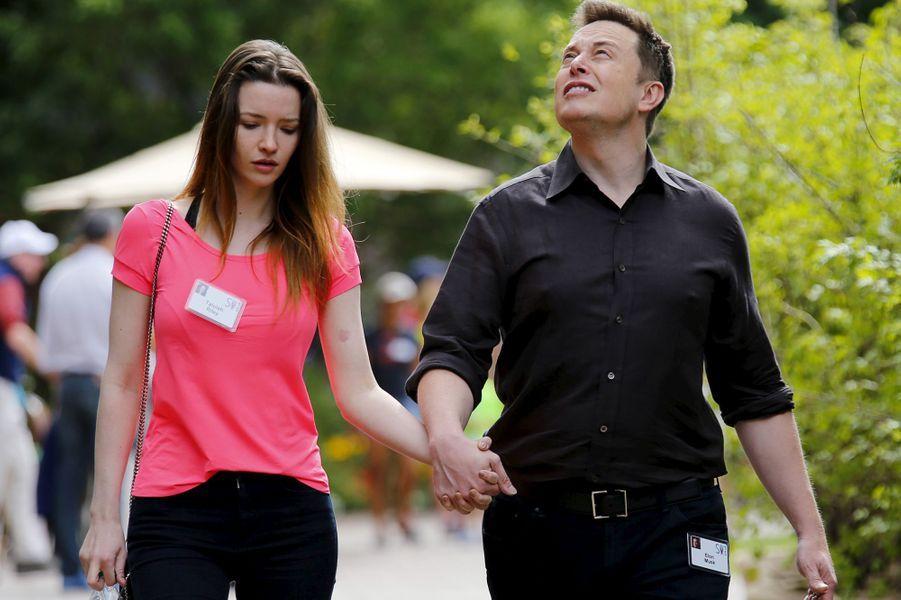 Elon Musk et sa femme Talulah Riley