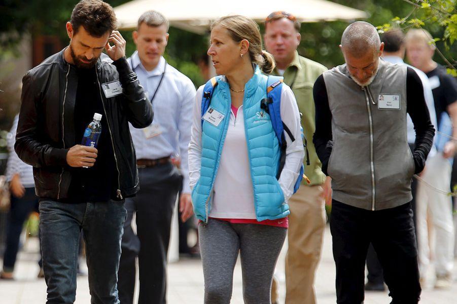 Jack Dorsey, PDG par interim de Twitter, discute avec la PDG de YouTube Susan Wojcicki