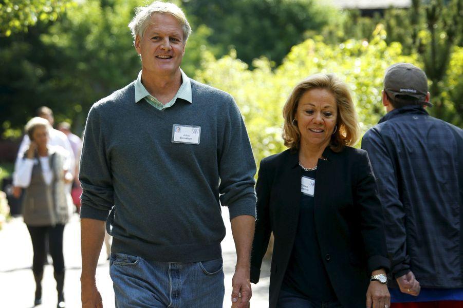 John Donahoe , Président et PDG d'eBay Inc, et sa femme Eileen