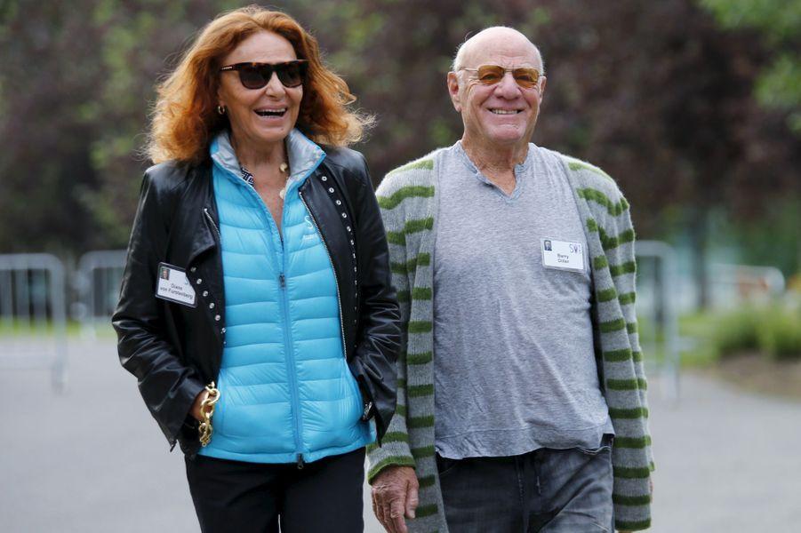 La créatrice de mode Diane von Furstenberg et son mari Barry Diller, le patron d'IAC/InterActiveCorp et Expedia