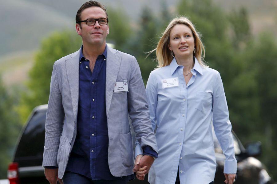 Le PDG de la 21st Century Fox James Murdoch et sa femme Kathryn