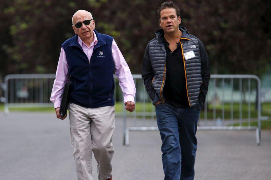 Rupert Murdoch et son fils Lachlan