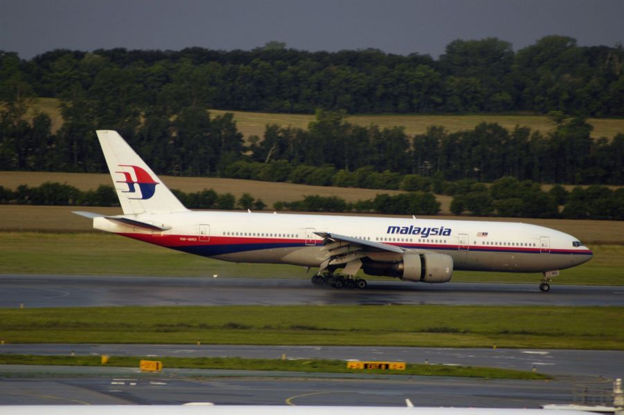 Une photo du Boeing 777 qui s'est écrasé, prise en 2005 à l'aéroport de Vienne, en Autriche.