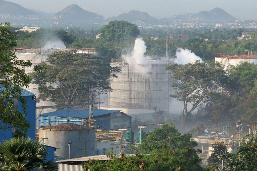Une fuite de gaz est survenue dans une usine deVisakhapatnam, en Inde.