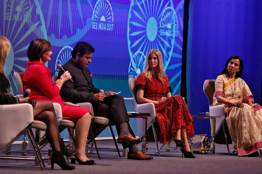 Ivanka Trump au Global Entrepreneurship Summit à Hyderabad, en Inde, le 29 novembre 2017.