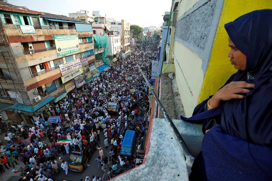 Manifestation à Chennai, en Inde, le 22 décembre 2019.
