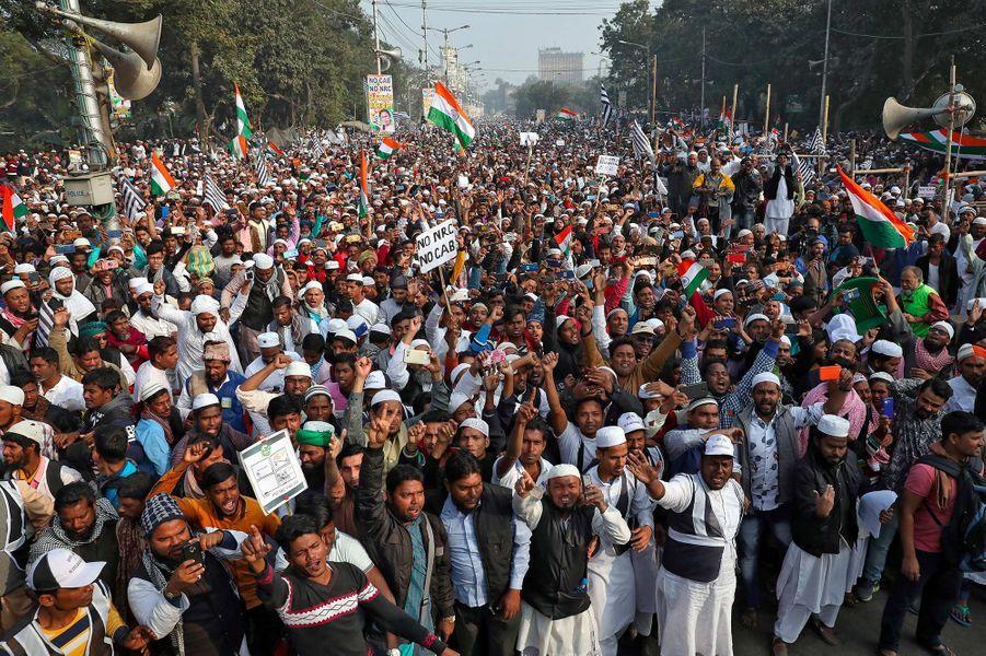 Manifestation à Kolkata, en Inde, le 22 décembre 2019.