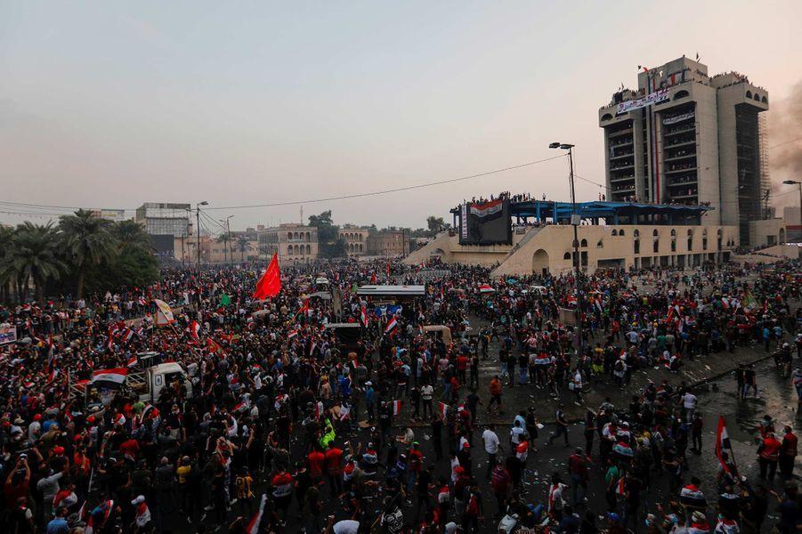Manifestation à Bagdad, en Irak, le 28 octobre 2019.