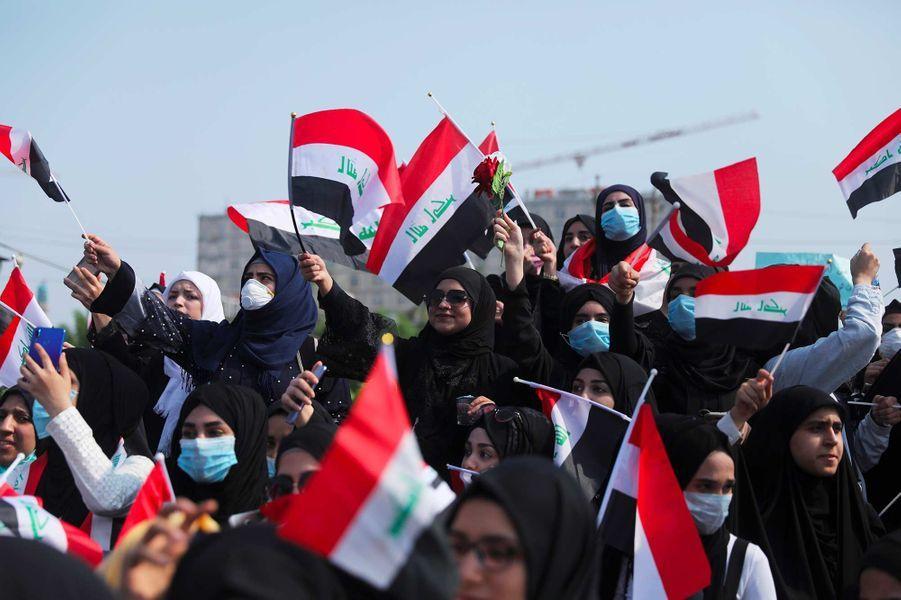 Manifestation à Kerbala, en Irak, le 28 octobre 2019.