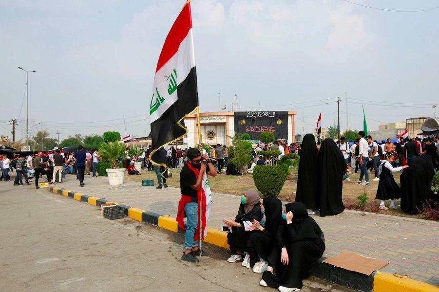 Manifestation à Nadjaf, en Irak, le 28 octobre 2019.