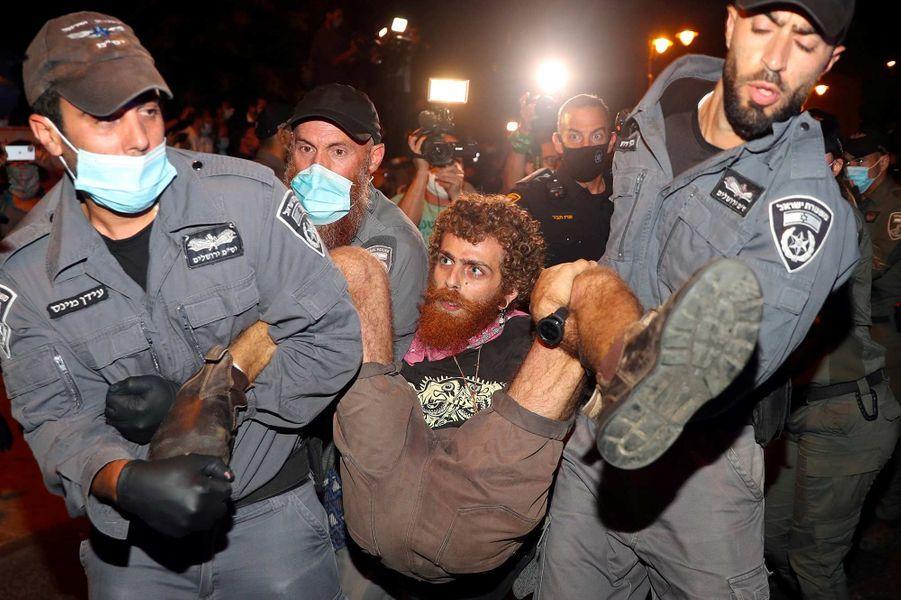 Manifestation à Jérusalem, le 23 juillet 2020.