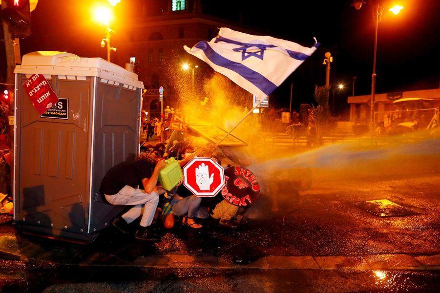 Manifestation à Jérusalem, le 26 juillet 2020.