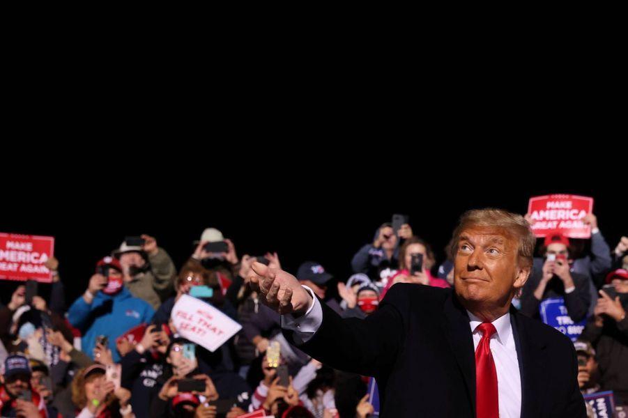 Donald Trump a tenu un meeting à Johnstown, en Pennsylvanie, le 13 octobre 2020.