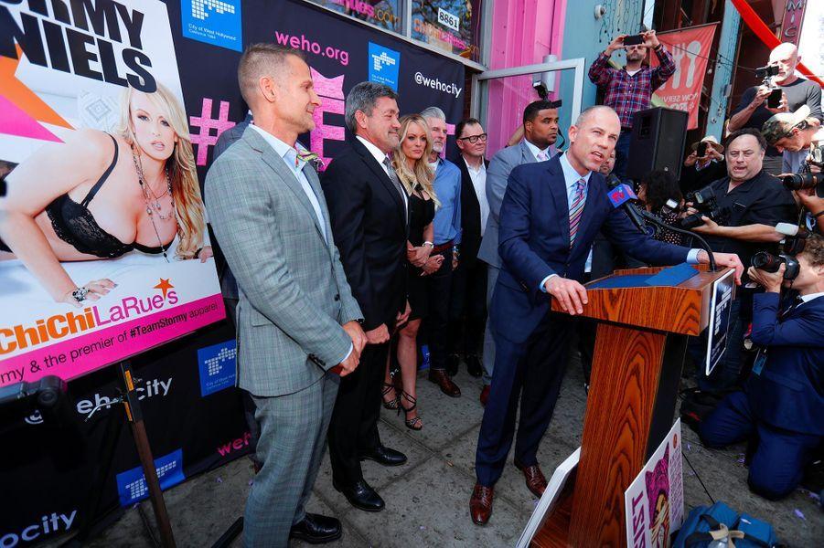 Stormy Daniels a reçu les clés de West Hollywood, le 23 mai 2018.