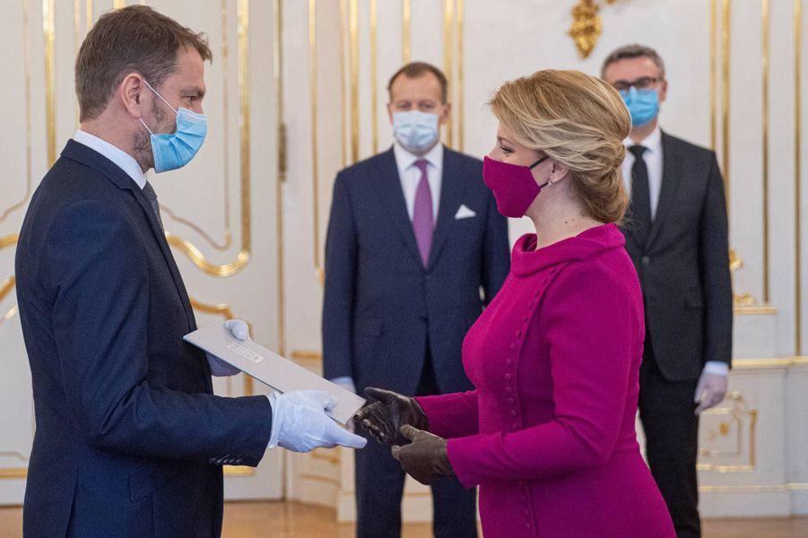 Le nouveau gouvernement slovaque a prêté serment à Bratislava, le 21 mars 2020.