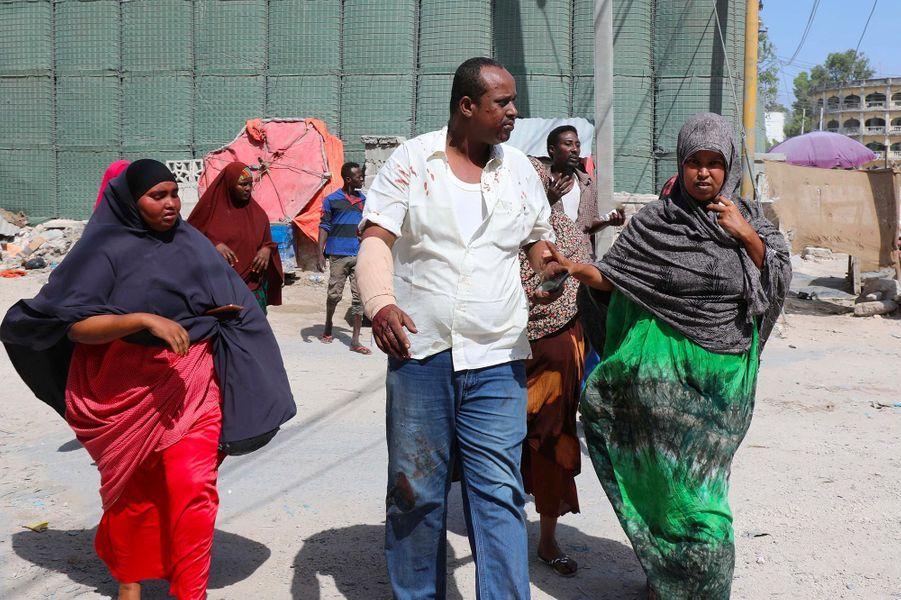 Un double attentat à la voiture piégée a eu lieu à Mogadiscio, en Somalie, le 22 décembre 2018.