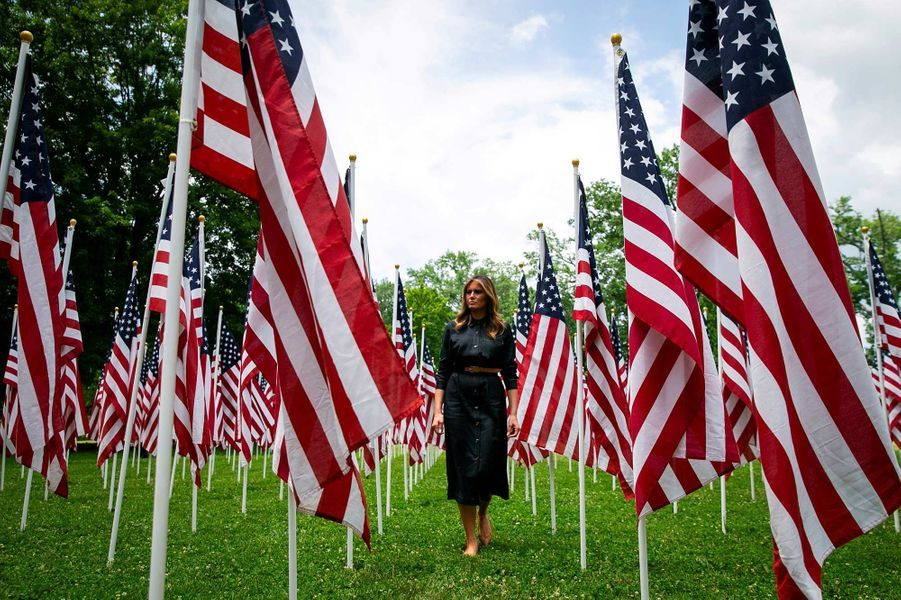 Melania Trump à Ritter Park, en Virginie-Occidentale, le 8 juillet 2019.