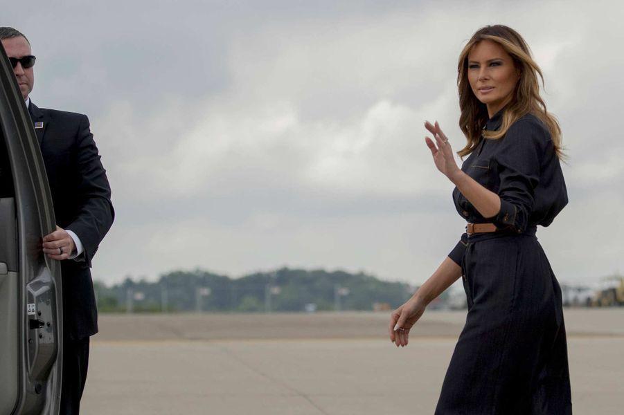 Melania Trump arrivant en Virginie-Occidentale, le 8 juillet 2019.