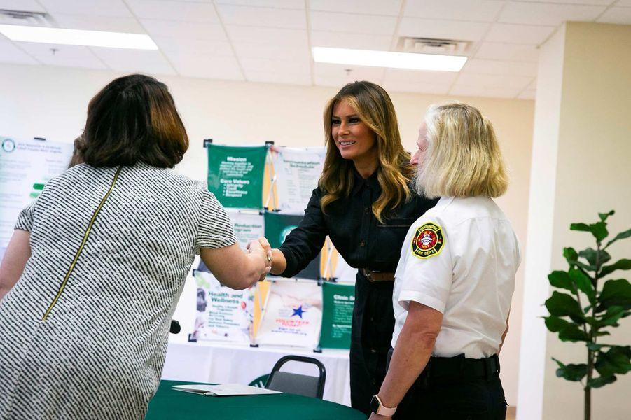 Melania Trump à Huntington, en Virginie-Occidentale, le 8 juillet 2019.