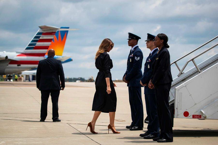 Melania Trump quittant la Virginie-Occidentale, le 8 juillet 2019.