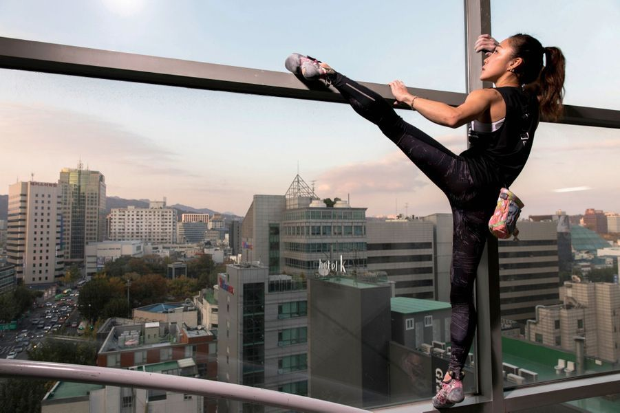 Kim Ja-in, 29 ans, la « femme araignée », prépare les Jo de 2020. une première en Corée