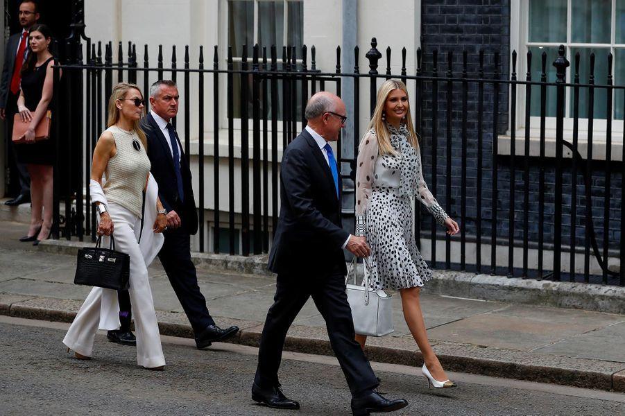 Ivanka Trump arrivant au 10 Downing Street, le 4 juin 2019.