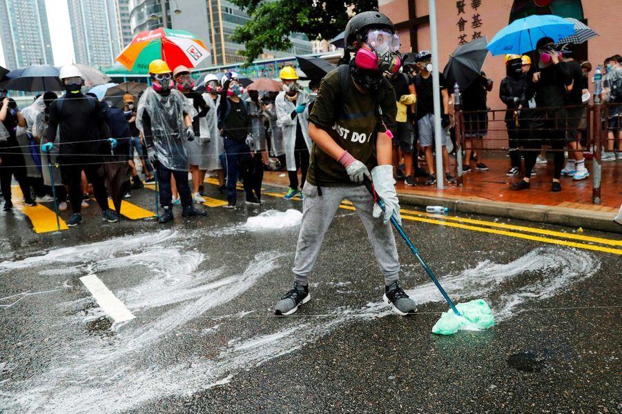 Manifestation à Hong Kong, le 25 août 2019.