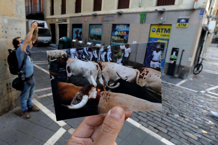 Il y a un an, les taureaux courraient dans les rues pour le deuxième jour des fêtes. Cette année, rien.
