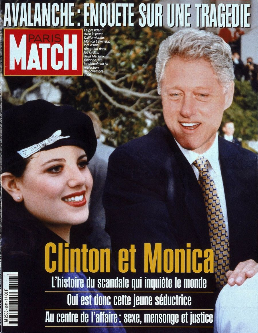 L'affaire Bill Clinton - Monica Lewinsky en couverture de Paris Match n°2541, daté du 5 février 1998