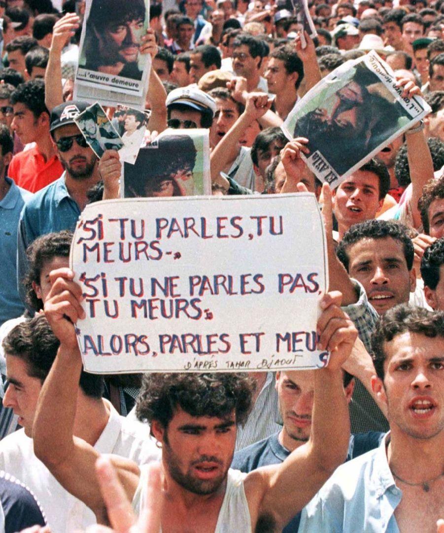 Les manifestations en mémoire de Matoub Lounès et de protestation contre son assassinat se sont poursuivies tout au long des mois de juillet et d'août dans les rues de Tizi Ouzou.