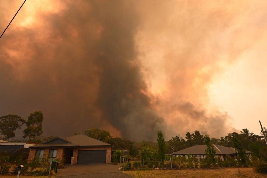 Incendie àBargo, près de Sydney, le 21 décembre 2019.