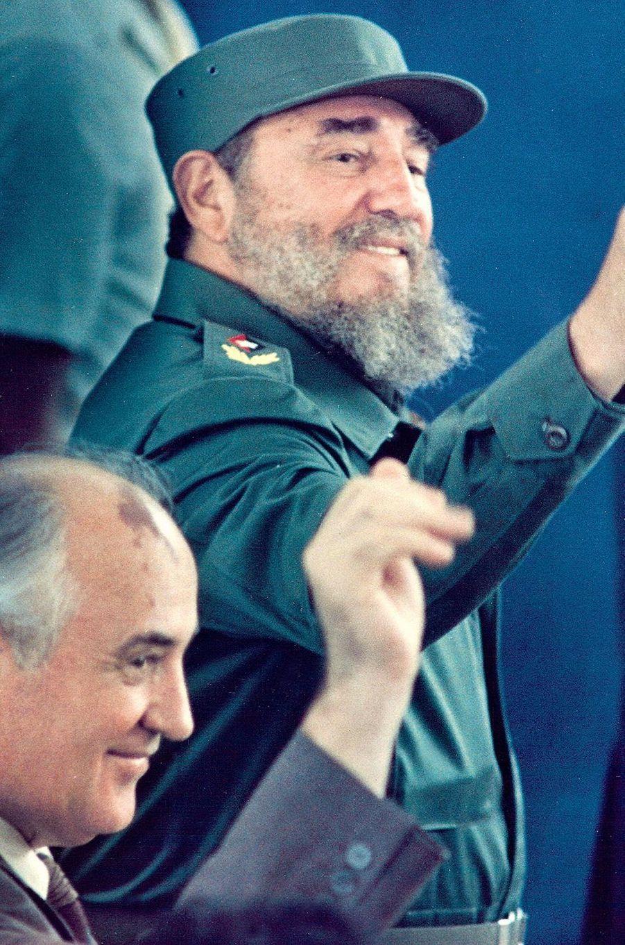 Fidel Castro, photographié en avril 1989.